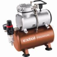 Extol premium olajmentes légkompresszor, 230V/150W, 6 bar, 23 l/perc, 3l tank, airbrush festéshez is használható, 8895300