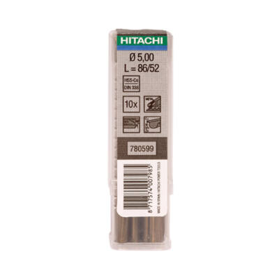 HiKOKI - Fúrószár HSS-Co DIN 338 D. 6,2  mm (10 db-os) (780613)