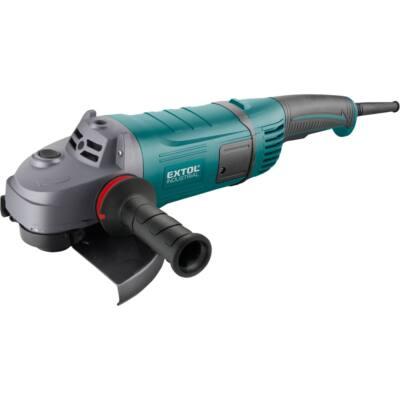 Extol Industrial sarokcsiszológép 230 mm 2600W, szabályozható fordulatszám, lágy indítás, terhelésnél konstans fordulatszám, papírdobozban (8792060)