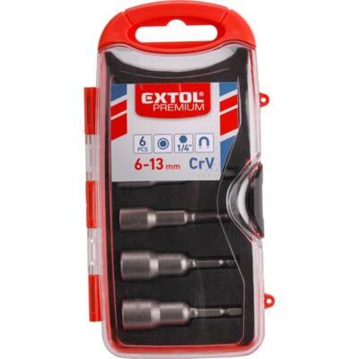 Extol behajtó klt. hatlapfejű csavarhoz 6db, 6-13mm (6-7-8-10-12-13mm), CrV., 8819630