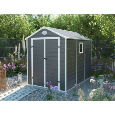 G21 PAH-458 kerti ház, kerti tároló,  241 x 190 cm, szürke, műanyag