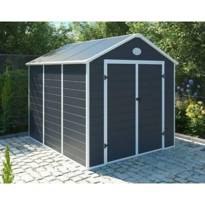 G21 PAH-670 kerti ház, kerti tároló,  241 x 278 cm, szürke, műanyag