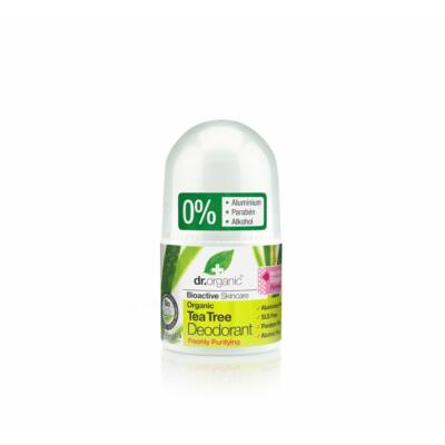 Dr. Organic alumíniummentes Golyós dezodor bio teafával 50 ml