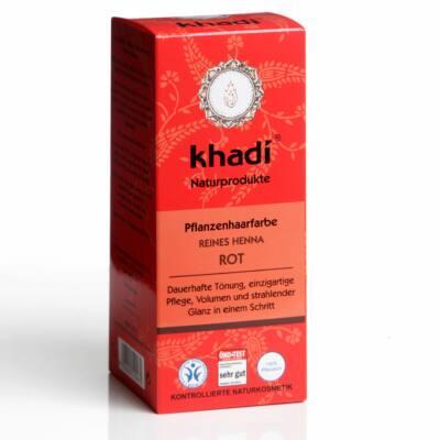 Khadi növényi hajfesték por Élénkvörös 100% henna 100g