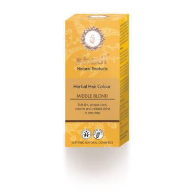 Khadi Növényi hajfesték por – Közép szőke 100 g