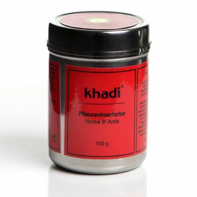 Khadi henna és amla növényi hajfesték por - Vörös 150g