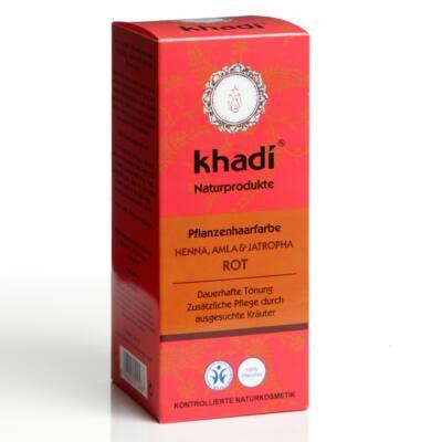 Khadi növényi hajfesték por Vörös henna, amla és jatropha növényekkel 100g