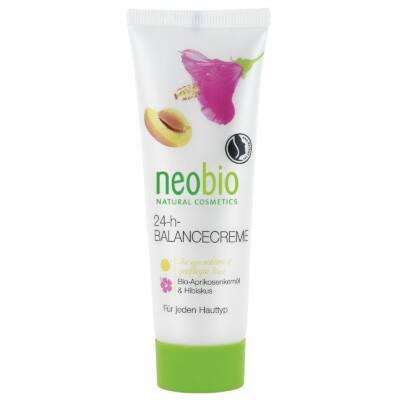 Neobio 24 órás Kiegyensúlyozó arckrém bio sárgabarackmag-olajjal és hibiszkusszal 50ml