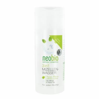 Neobio 3 az 1-ben Micellás arctisztító víz bio mentakivonattal és tengeri sóval 150ml