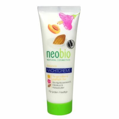 Neobio Éjszakai krém vegyes bőrre BIO sárgabarackmag olajjal, hibiszkusszal és BIO kakaóvajjal 50ml