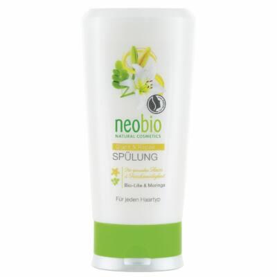 Neobio Regeneráló hajbalzsam fénytelen hajra bio fehérliliom-és moringakivonattal 150ml
