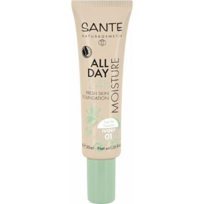 Sante 24h Hidratáló, Bőr Frissítő Alapozó 01 Ivory