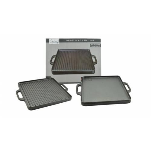 Perfect Home Perfect Home 12970 Öntöttvas grill lap 2 oldalas, 33 x 33 cm olcsón